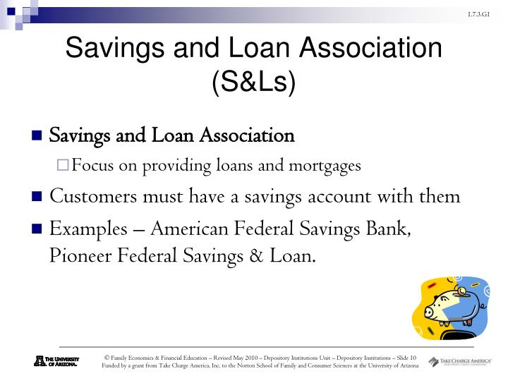 bonifacio savings and loans association Savings and loan association definition is - a cooperative association organized to hold savings of members in the form of dividend-bearing shares and to invest chiefly in home mortgage loans —called also savings and loan.