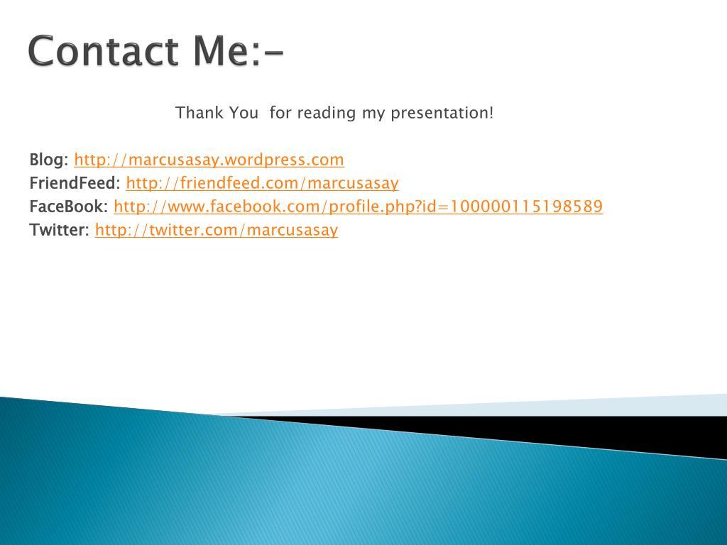 Contact Me:-
