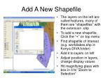 add a new shapefile