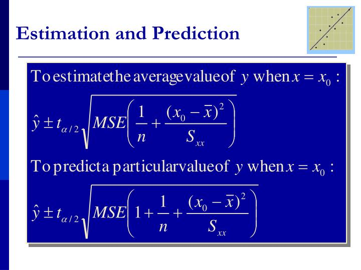 Estimation and Prediction