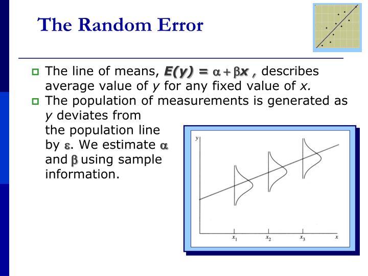 The Random Error