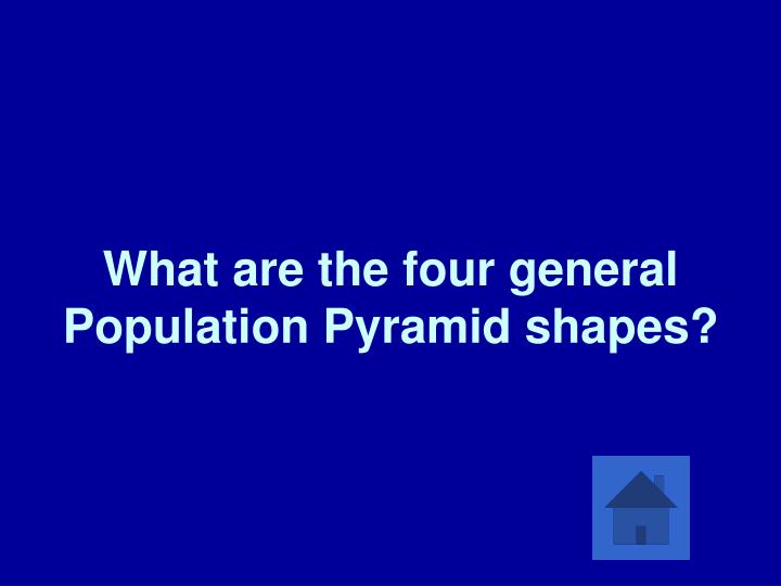 What are the four general Population Pyramid shapes?