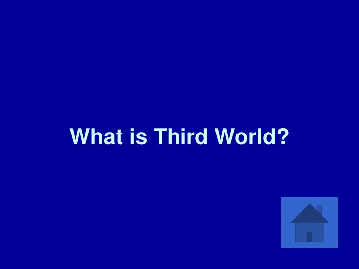 What is Third World?