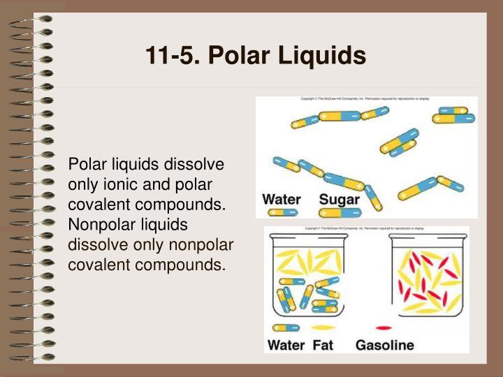 11-5. Polar Liquids