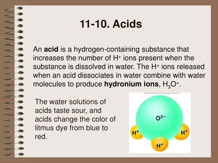 11-10. Acids