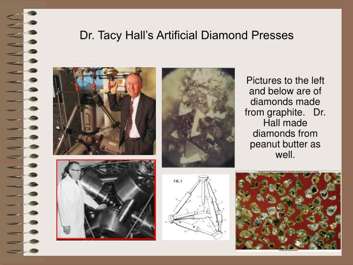 Dr. Tacy Hall's Artificial Diamond Presses