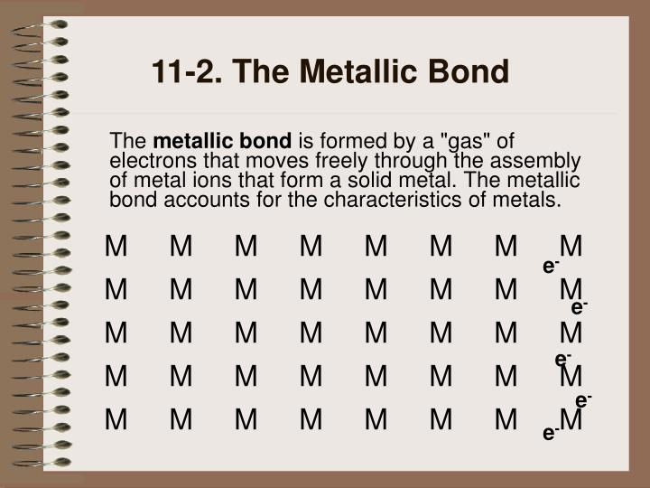 11-2. The Metallic Bond