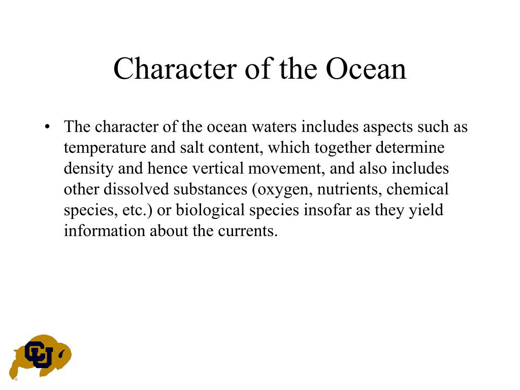 Character of the Ocean
