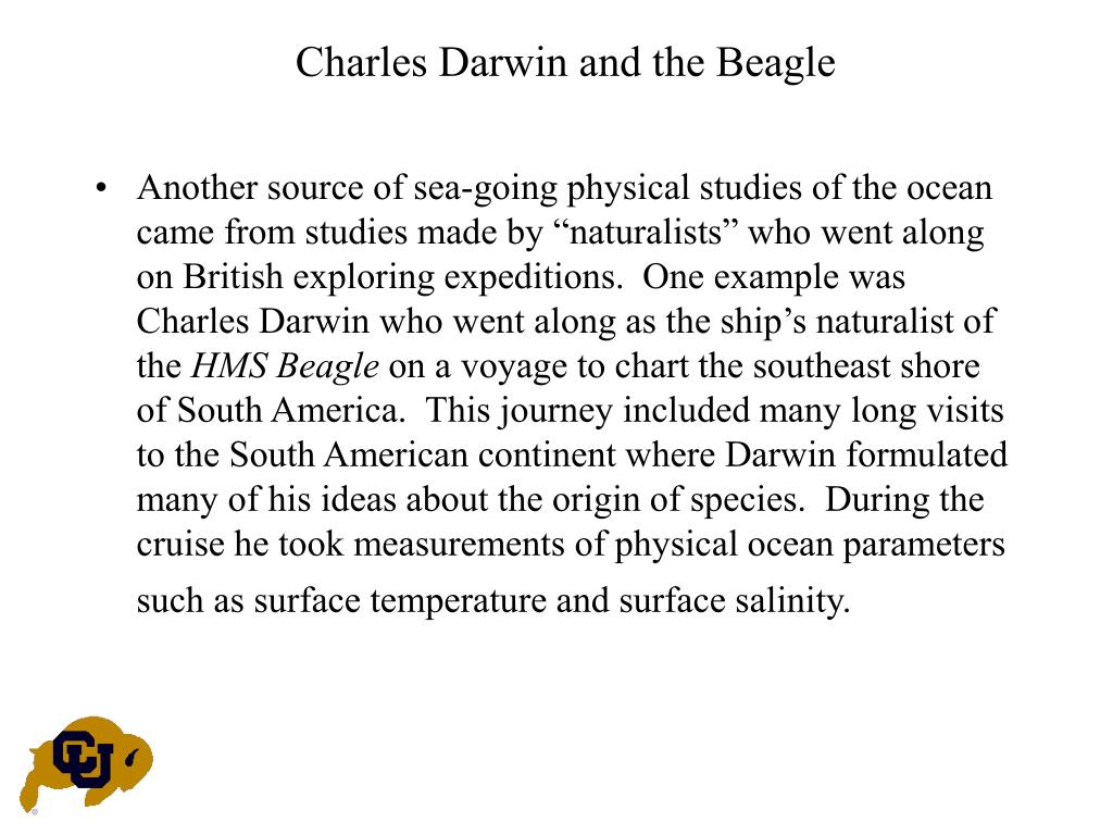 Charles Darwin and the Beagle