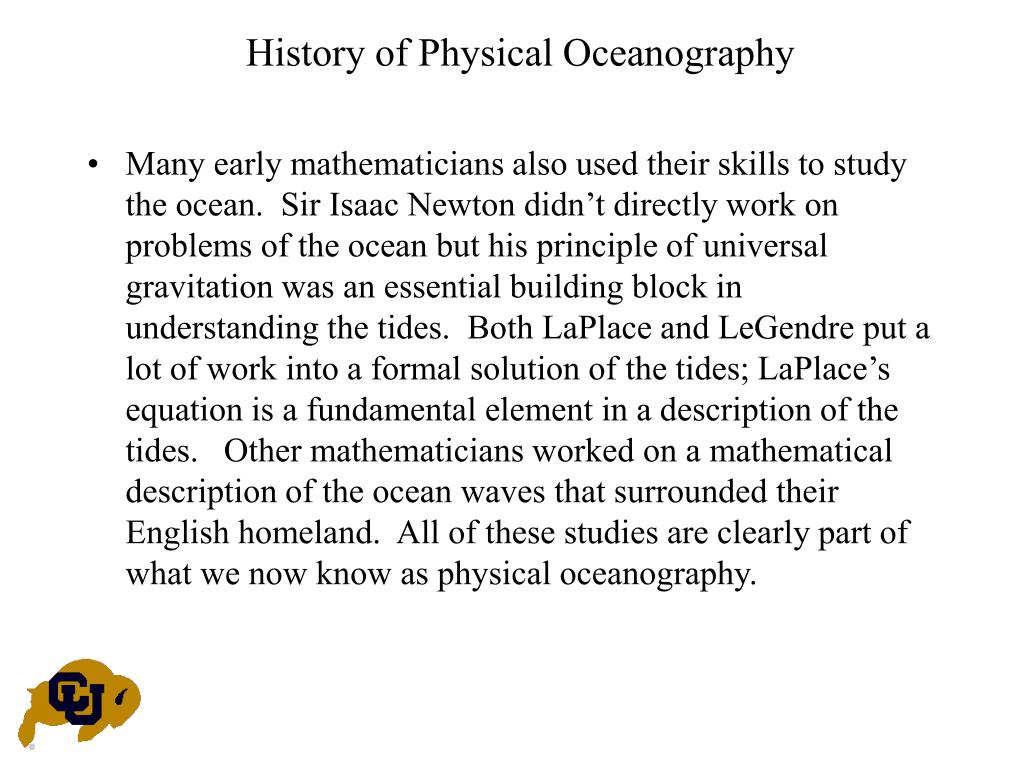 History of Physical Oceanography