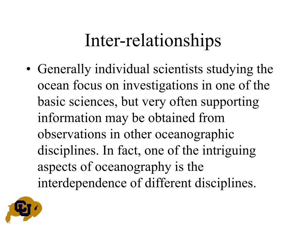 Inter-relationships