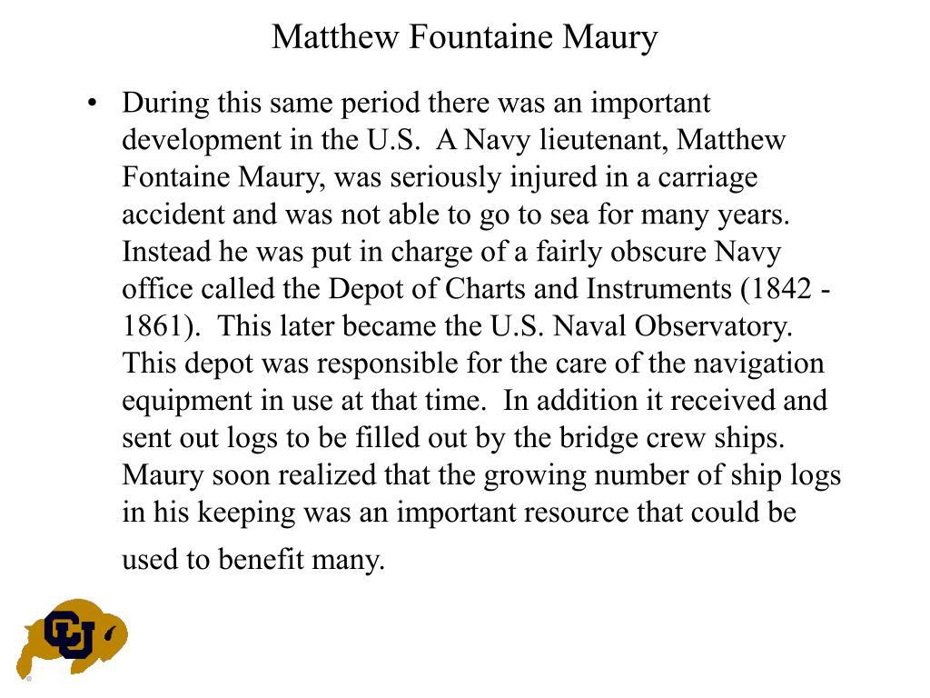 Matthew Fountaine Maury