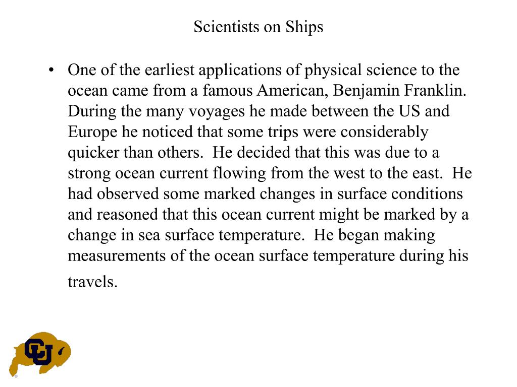 Scientists on Ships