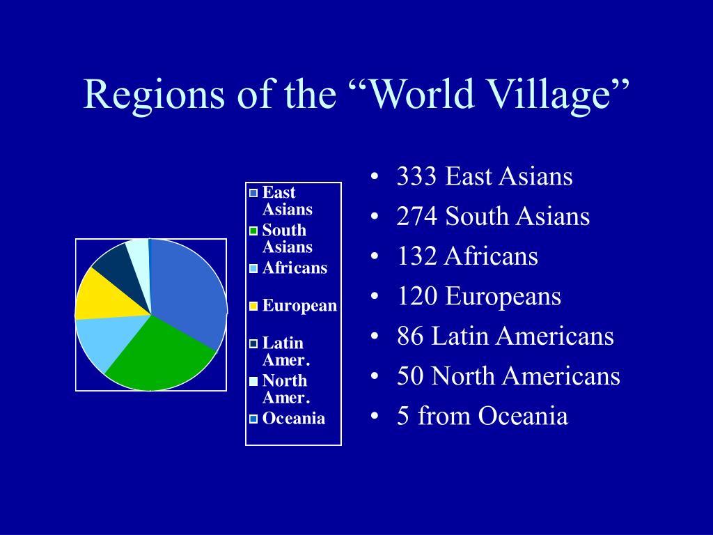 "Regions of the ""World Village"""