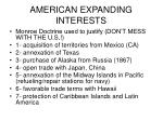 american expanding interests