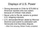 displays of u s power