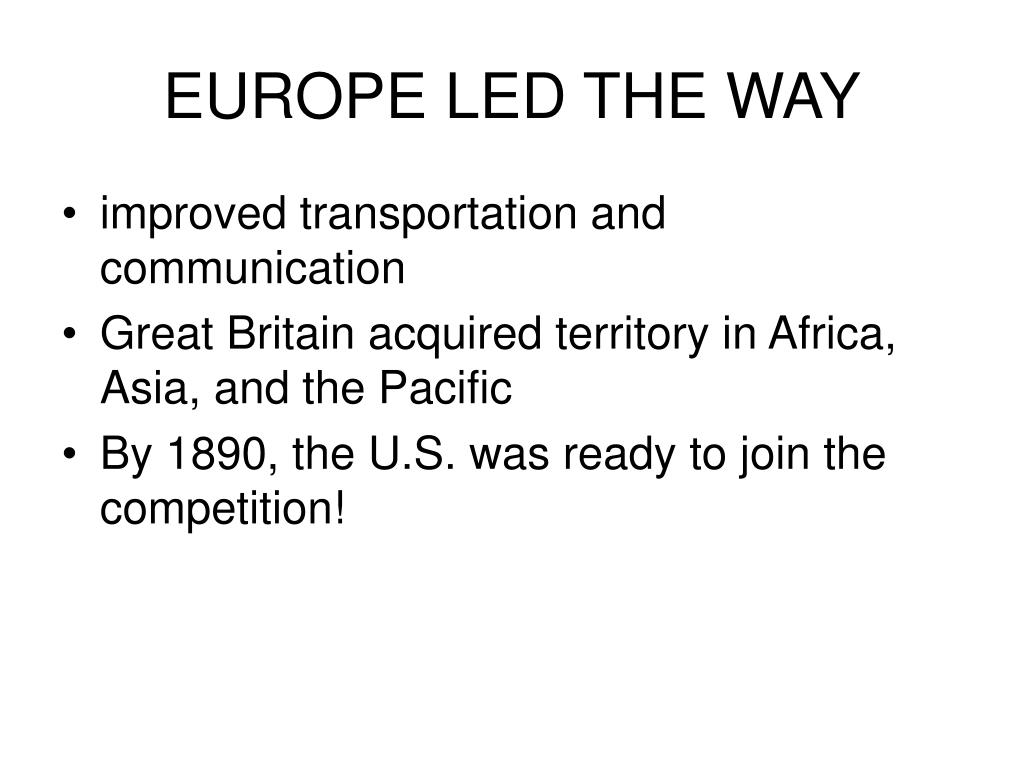 EUROPE LED THE WAY