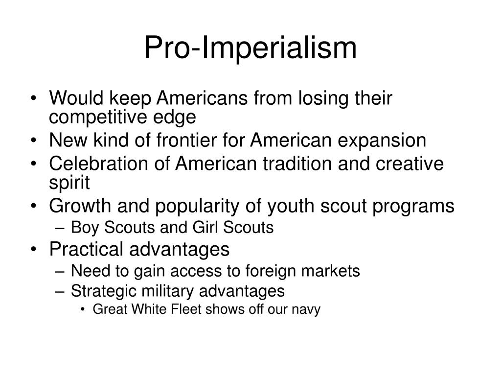 Pro-Imperialism