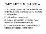 why imperialism grew