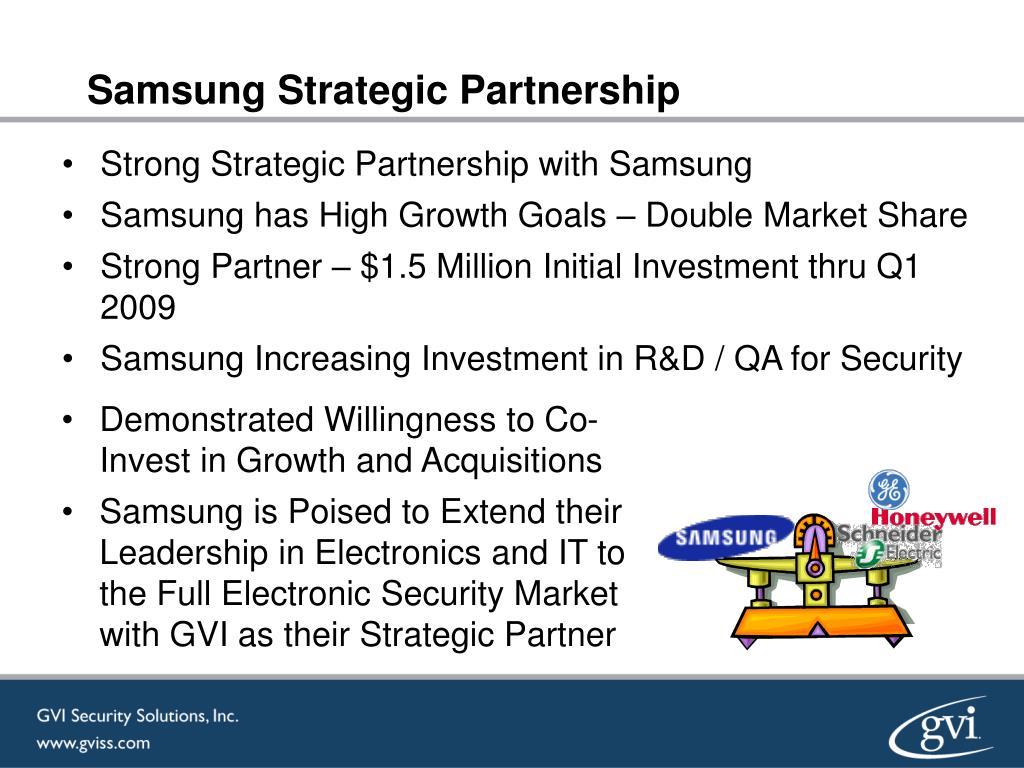 Samsung Strategic Partnership