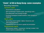 costs of sd in hong kong some examples40
