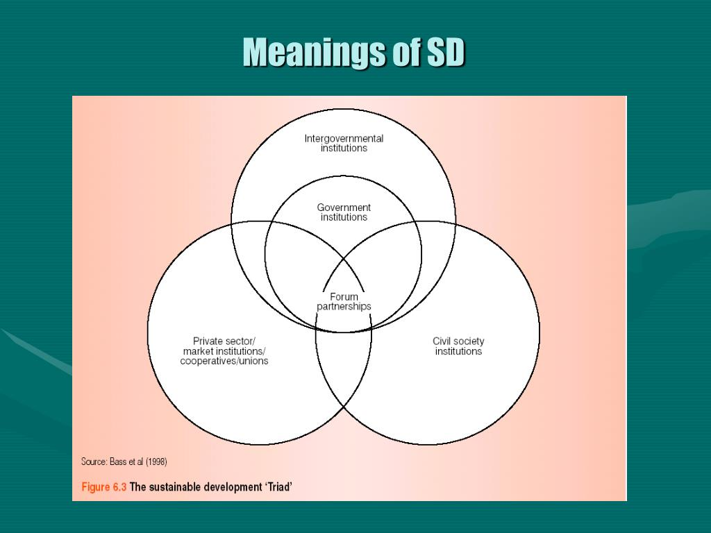 Meanings of SD