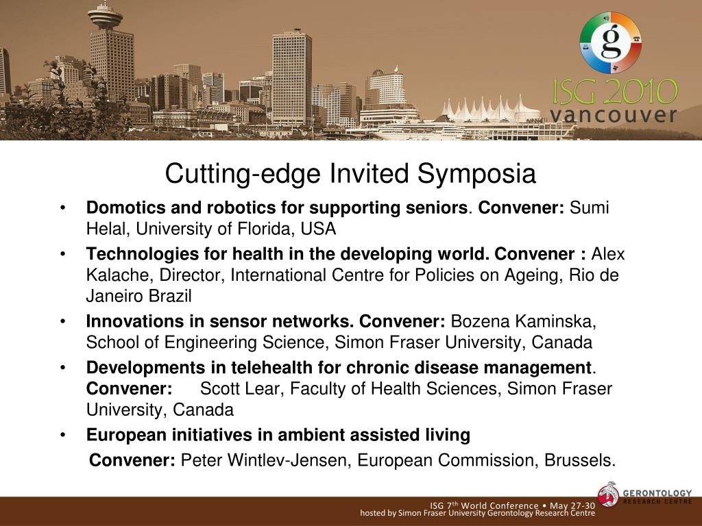 Cutting-edge Invited Symposia