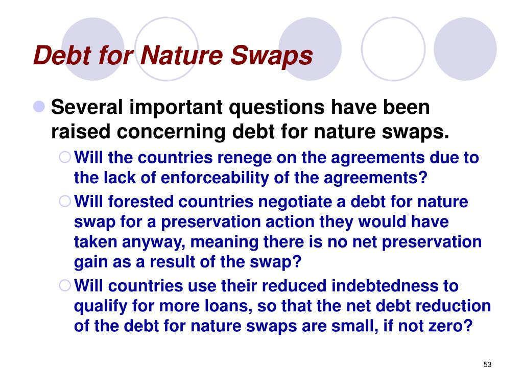 Debt for Nature Swaps