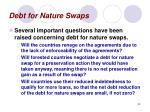 debt for nature swaps53