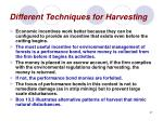 different techniques for harvesting37