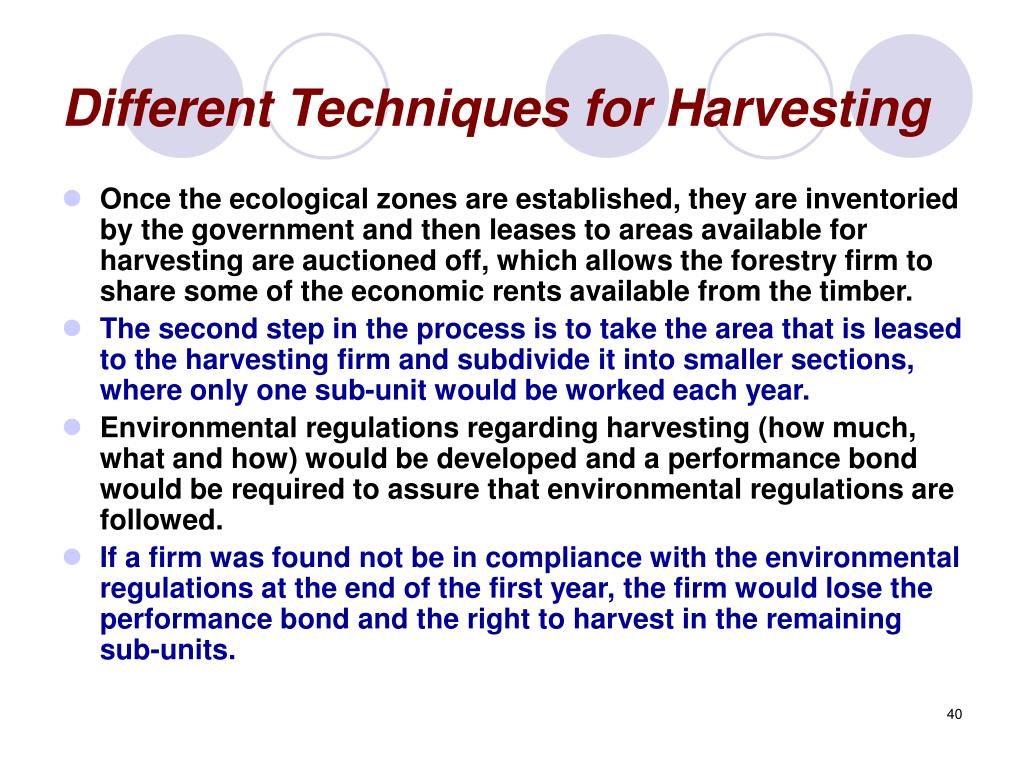 Different Techniques for Harvesting
