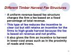 different timber harvest fee structures33