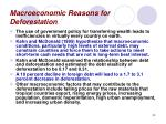 macroeconomic reasons for deforestation50