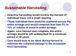 sustainable harvesting26