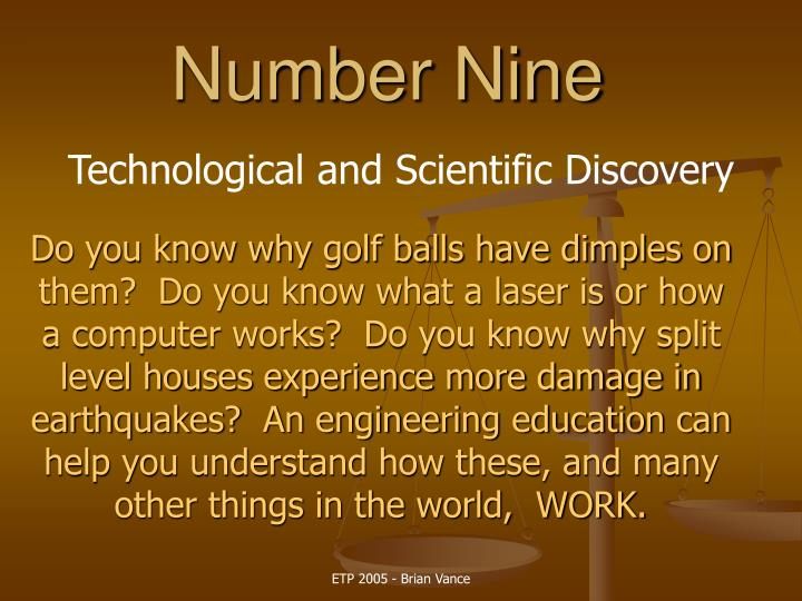 Technological and Scientific Discovery