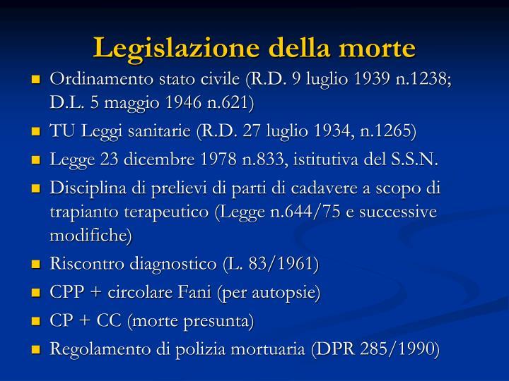 Legislazione della morte