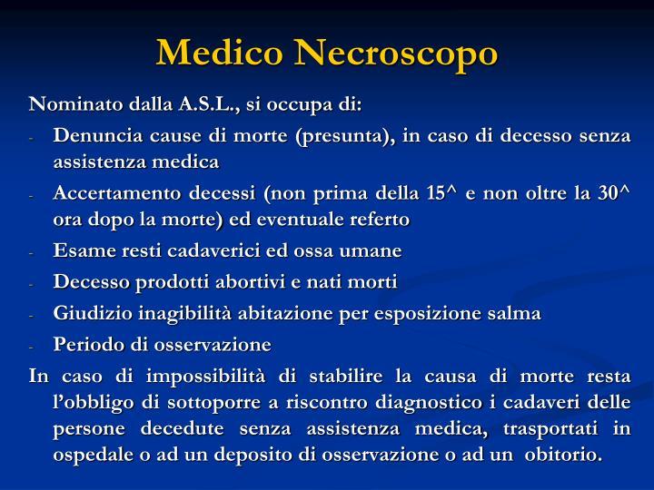 Medico Necroscopo