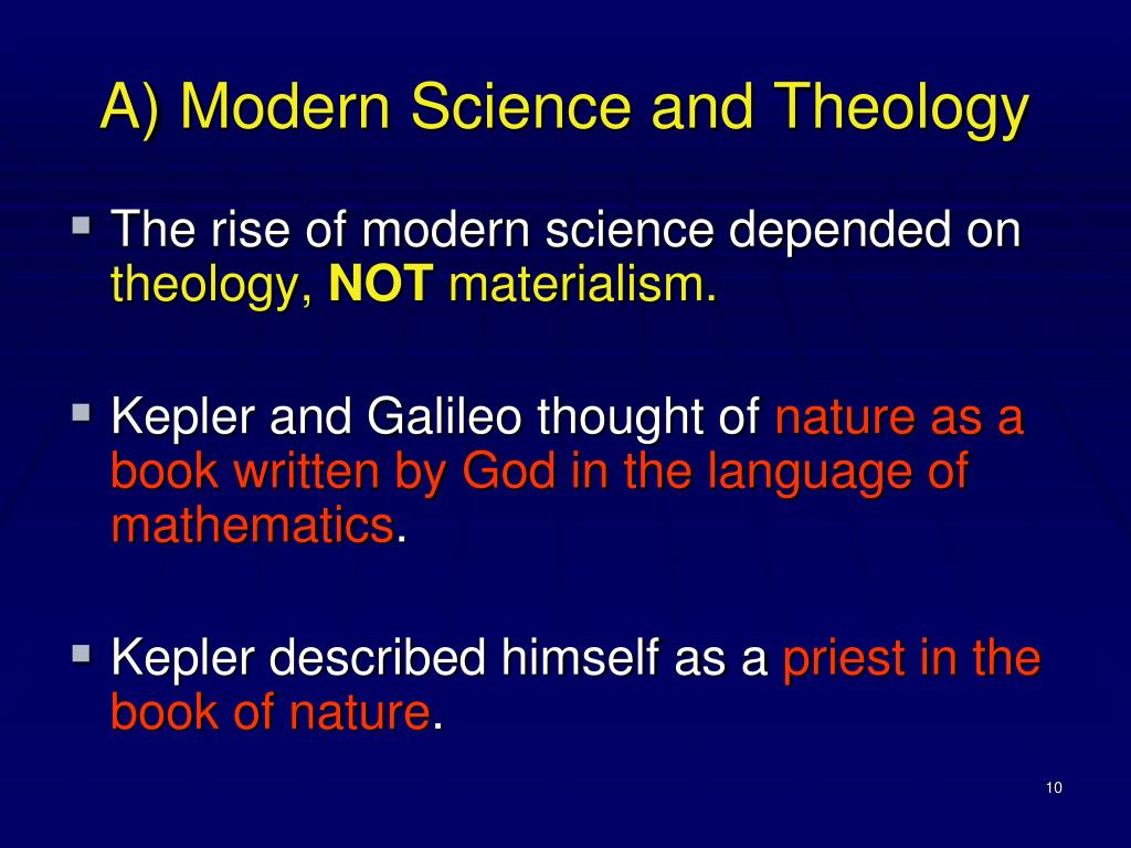 A) Modern Science and Theology