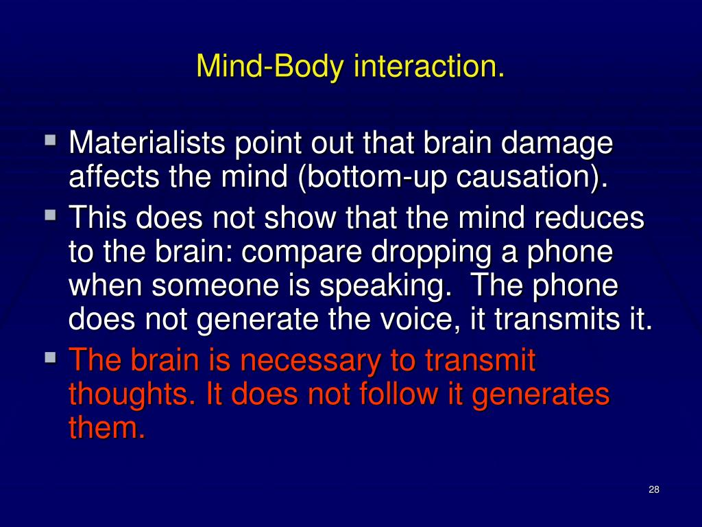 Mind-Body interaction.