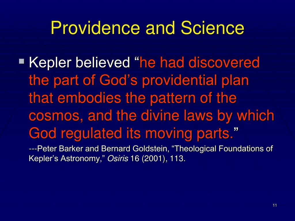 Providence and Science