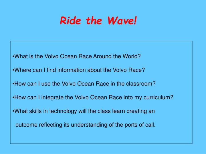 Ride the Wave!
