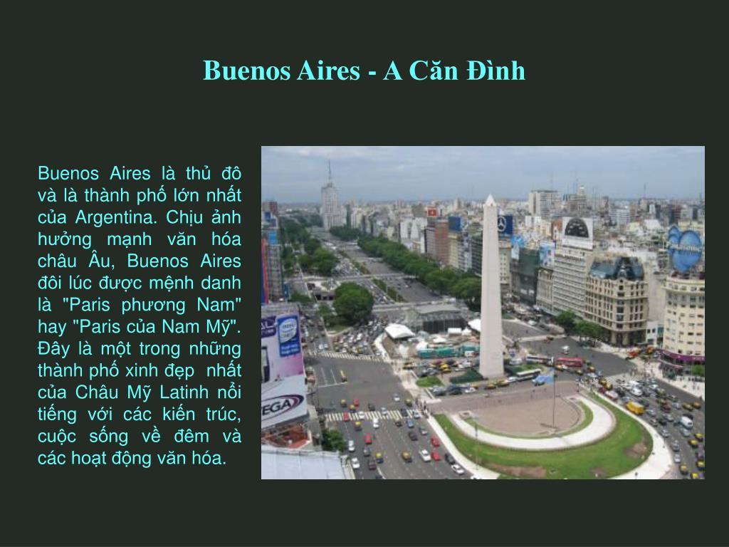 Buenos Aires - A Căn Đình