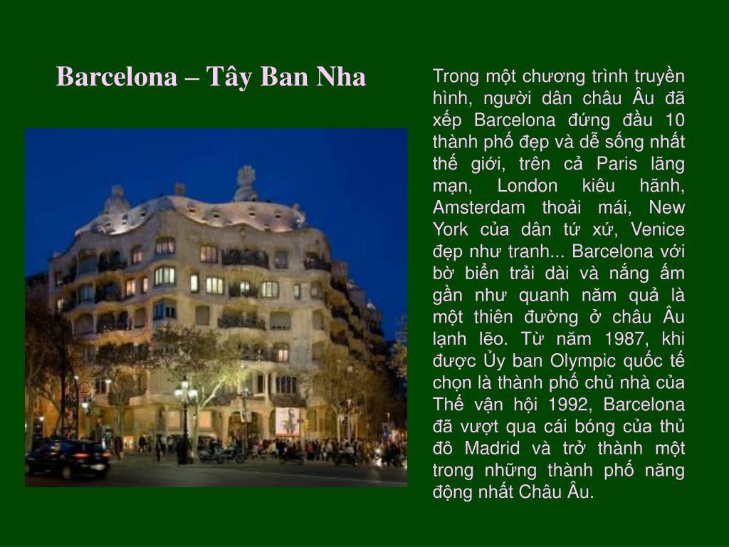 Barcelona – Tây Ban Nha