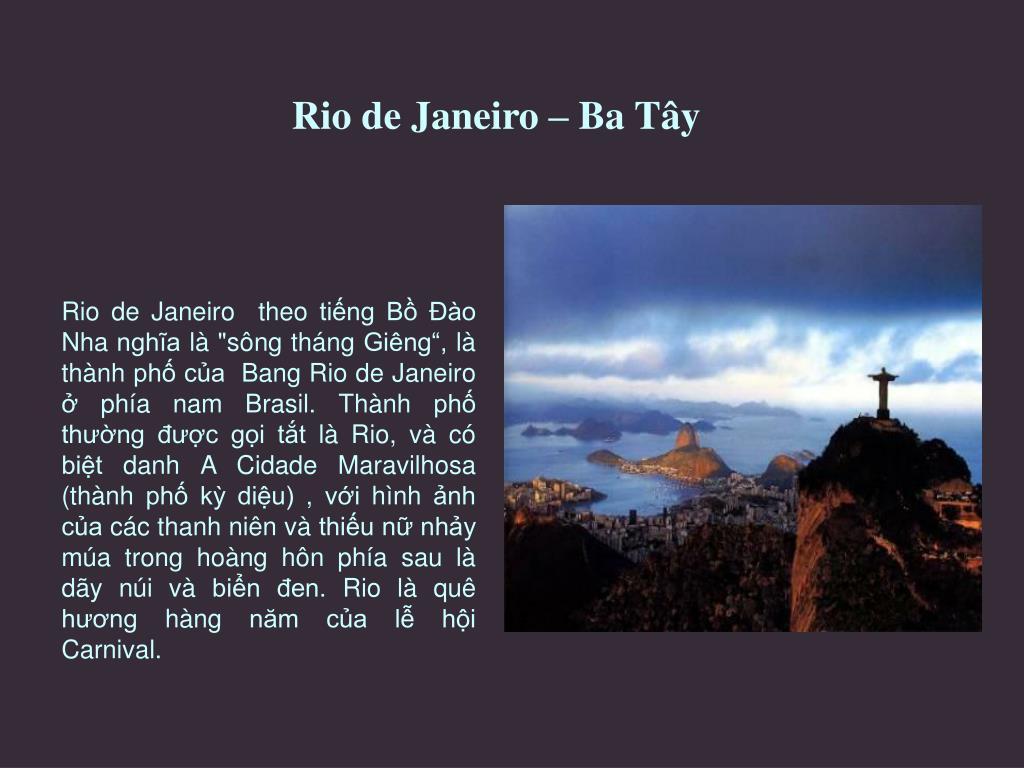 Rio de Janeiro – Ba Tây