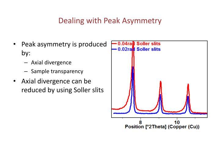 Dealing with Peak Asymmetry