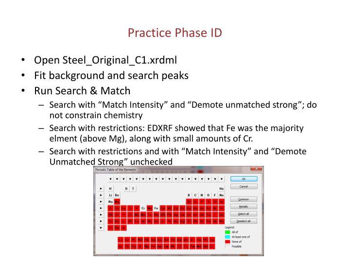 Practice Phase ID