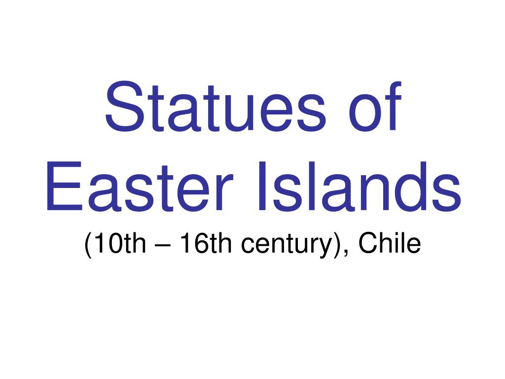 Statues of Easter Islands
