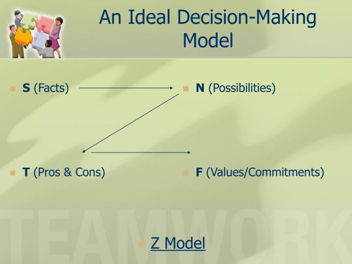 An Ideal Decision-Making Model