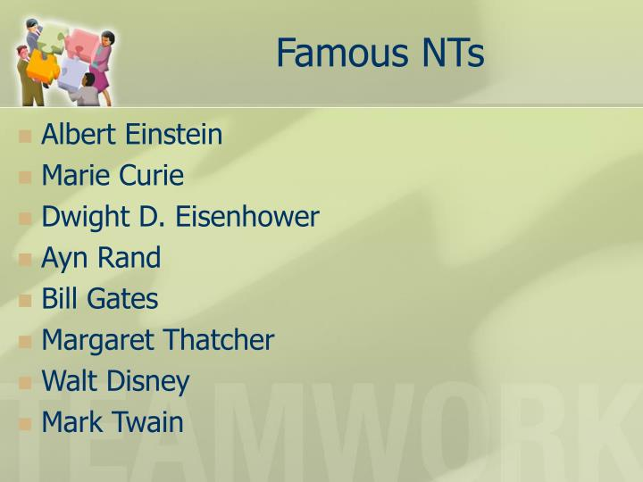 Famous NTs