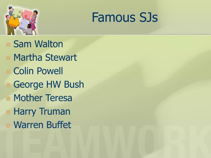 Famous SJs